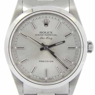 Mens Rolex Stainless Steel Air-King Silver  14000 (SKU U119962MCMT)