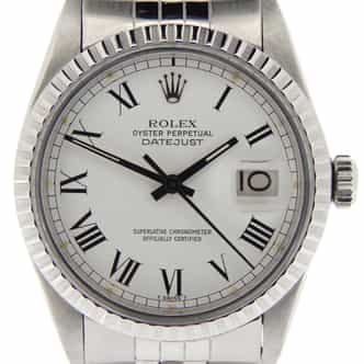 Mens Rolex Stainless Steel Datejust White Roman 16030 (SKU 6508040NMT)