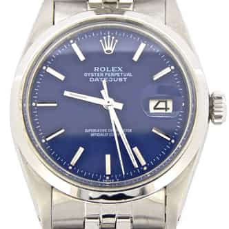 Mens Rolex Stainless Steel Datejust Blue  1603 (SKU 1924206MT)