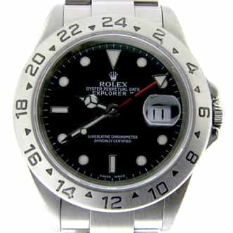 Mens Rolex Stainless Steel Explorer II Black  16570 (SKU K958553NMT)