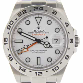 Mens Rolex Stainless Steel Explorer II 42mm White  216570 (SKU 216570E2NNMT)