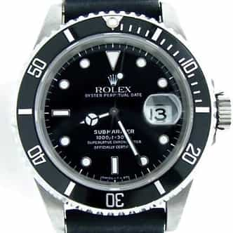Mens Rolex Stainless Steel Submariner Black  16610 (SKU ESU93211MT)