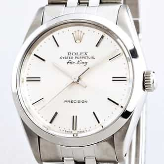 Mens Rolex Stainless Steel Air-King White  5500 (SKU 5500111CMT)