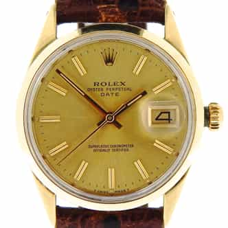 Mens Rolex 14K Gold Shell Date Champagne 1550 (SKU 3170176NBMT)