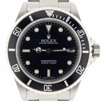 Mens Rolex Stainless Steel Submariner Black  14060M (SKU D898684NMT)