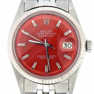 Mens Rolex Stainless Steel Datejust Red  1601 (SKU 2800566MT)