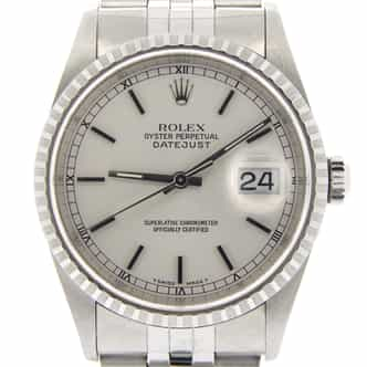 Mens Rolex Stainless Steel Datejust Silver  16220 (SKU A710224NDMT)