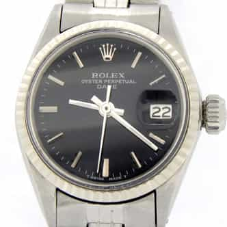 Ladies Rolex Stainless Steel Date Black  6517 (SKU 2170668MT)