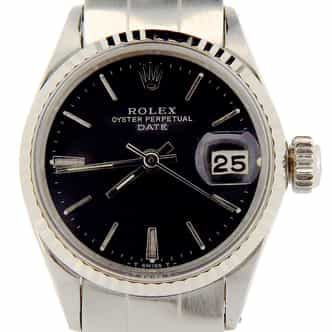 Ladies Rolex Stainless Steel Date Black  6517 (SKU 1482644NMT)