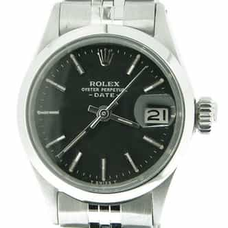 Ladies Rolex Stainless Steel Date Black  6516 (SKU 2084902MT)
