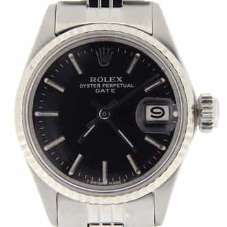 Ladies Rolex Stainless Steel Date Black  6517 (SKU 1918622NMT)
