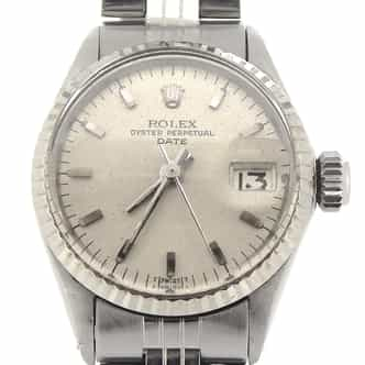 Ladies Rolex Stainless Steel Date Silver  6517 (SKU 1976372MT)