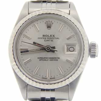 Ladies Rolex Stainless Steel Date Silver  6917 (SKU 3084902MT)