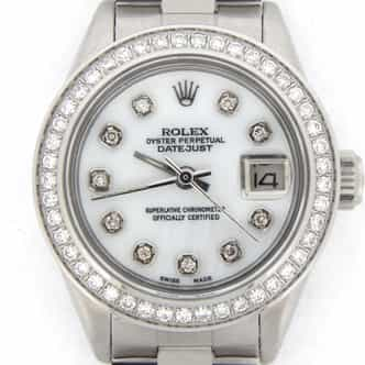 Ladies Rolex Stainless Steel Datejust White MOP Diamond (SKU 7541023MT)