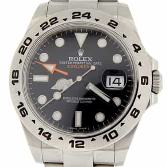 Mens Rolex Stainless Steel Explorer II 42mm Black 216570 (SKU G464473MT)