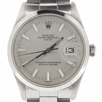 Mens Rolex Stainless Steel Date Silver  15000 (SKU 7238982NMT)