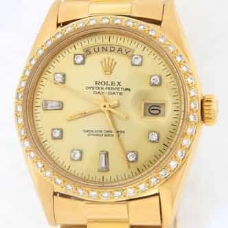 Mens Rolex 18K Gold Day-Date President Diamond 1803 (SKU 1635726MT)