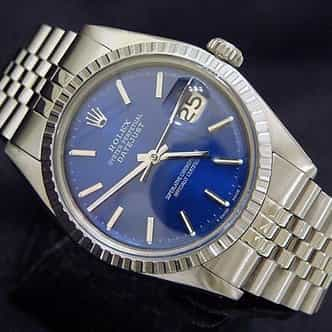 Mens Rolex Stainless Steel Datejust Blue  1603 (SKU 5212857MT)