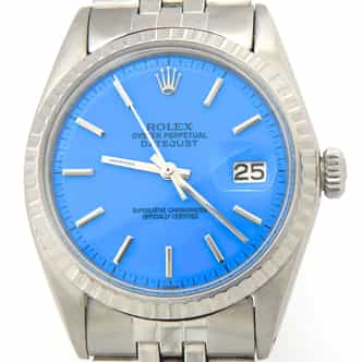 Mens Rolex Stainless Steel Datejust Blue  1603 (SKU 2562531MT)