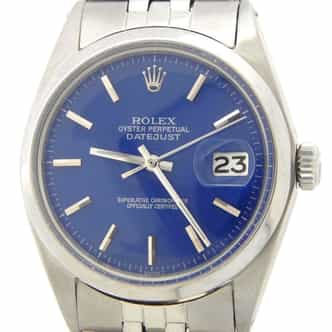 Mens Rolex Stainless Steel Datejust Blue  1603 (SKU 2780823DMT)