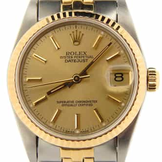 Mid Size Rolex Two-Tone 18K/SS Datejust Champagne  68273 (SKU N300049NMT)