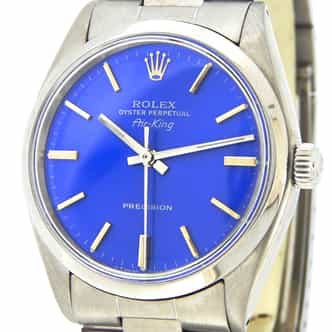 Mens Rolex Stainless Steel Air-King Blue  5500 (SKU 862102MT)