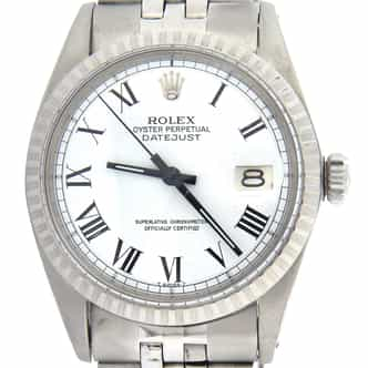 Mens Rolex Stainless Steel Datejust White Roman 1603 (SKU 2592219MT)