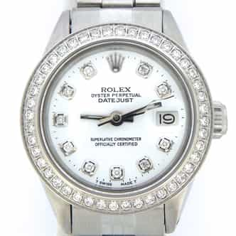 Ladies Rolex Stainless Steel Datejust White Diamond (SKU 3220881NMT)