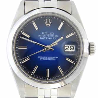 Mens Rolex Stainless Steel Datejust Blue (SKU DJNQSBLUEMT)