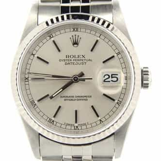 Mens Rolex Stainless Steel Datejust Silver 16234 (SKU W801090NMT)