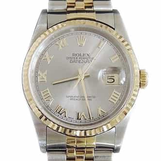 Mens Rolex Two-Tone 18K/SS Datejust Slate Roman 16233 (SKU DJ131111MT)
