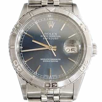 Mens Rolex Stainless Steel Datejust Turn-O-Graph Blue  16264 (SKU P140081MT)