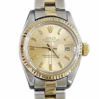 Ladies Rolex Two-Tone 14K/SS Datejust Champagne  6917 (SKU DJ44MT)
