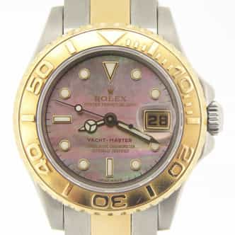 Ladies Rolex Two-Tone Yacht-Master Tahitian MOP 169623 (SKU Z223467MT)