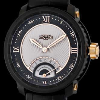 Mens DeWitt Twenty-8-Eight Retrograde Black PVD Titanium (SKU DEWITTRETROGRADED)