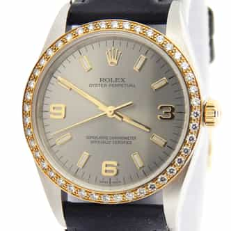 Mens Rolex Two-Tone Oyster Perpetual Slate Arabic 14233 (SKU P442070AMT)