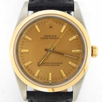 Mens Rolex Two-Tone 18K/SS Oyster Perpetual Gold  14203 (SKU X685867MT)