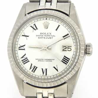 Mens Rolex Stainless Steel Datejust White Roman 1603 (SKU 3950876MT)