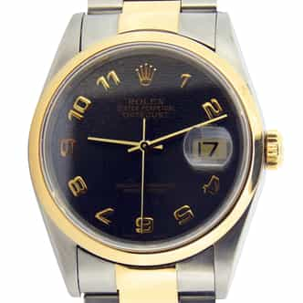 Mens Rolex Two-Tone Datejust Slate Arabic 16203 (SKU 16203SLATEAMT)