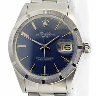 Mens Rolex Stainless Steel Date Blue 1501 (SKU 1799739BLUEMT)