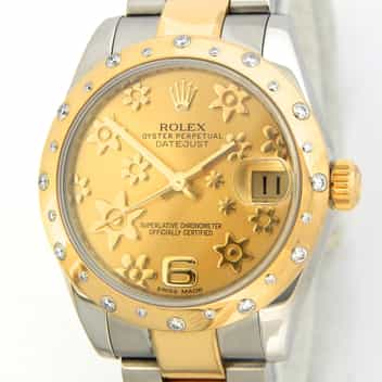 Mid Size Rolex Two-Tone Datejust Gold 178343 (SKU G138173MT)