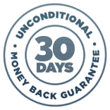 Unconditional 30 Days Money Back Guarantee