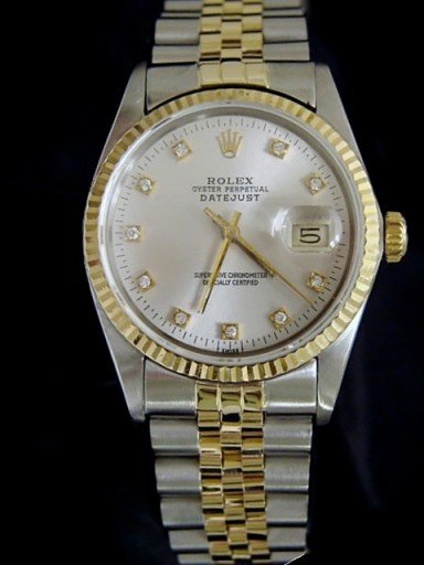 Rolex Two-Tone Datejust 16013 Silver Diamond-3