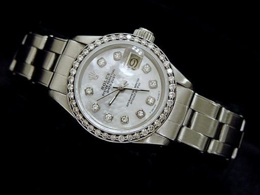 Rolex Stainless Steel Datejust 6916 White MOP Diamond-4