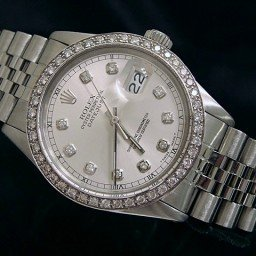 Mens Rolex Stainless Steel Datejust Silver Diamond (SKU 9682164MT)