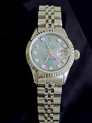 Rolex Stainless Steel Datejust 6917 Tahitian MOP Diamond-4
