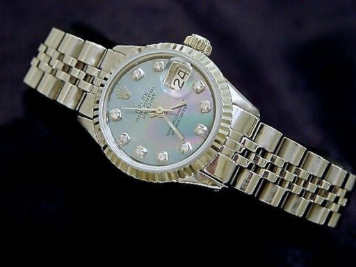 Rolex Stainless Steel Datejust 6917 Tahitian MOP Diamond-3