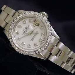 Ladies Rolex Stainless Steel Datejust White MOP Diamond (SKU 3587639MT)