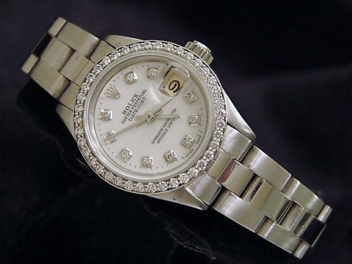 Rolex Stainless Steel Datejust 6917 White MOP Diamond-4