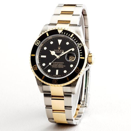 Rolex Two-Tone Submariner 16613T Black -3